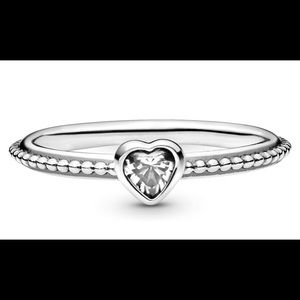Pandora One Love Zirconia Ring in Sterling Silver